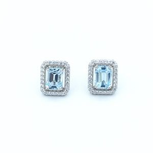 Jewelry - 🛍925 Sterling Silver Topaz Stud Earrings🛍